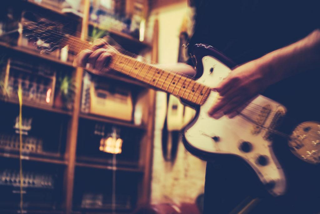 Gus Guitar's Jaguar- played loud in a n open-tuning...
