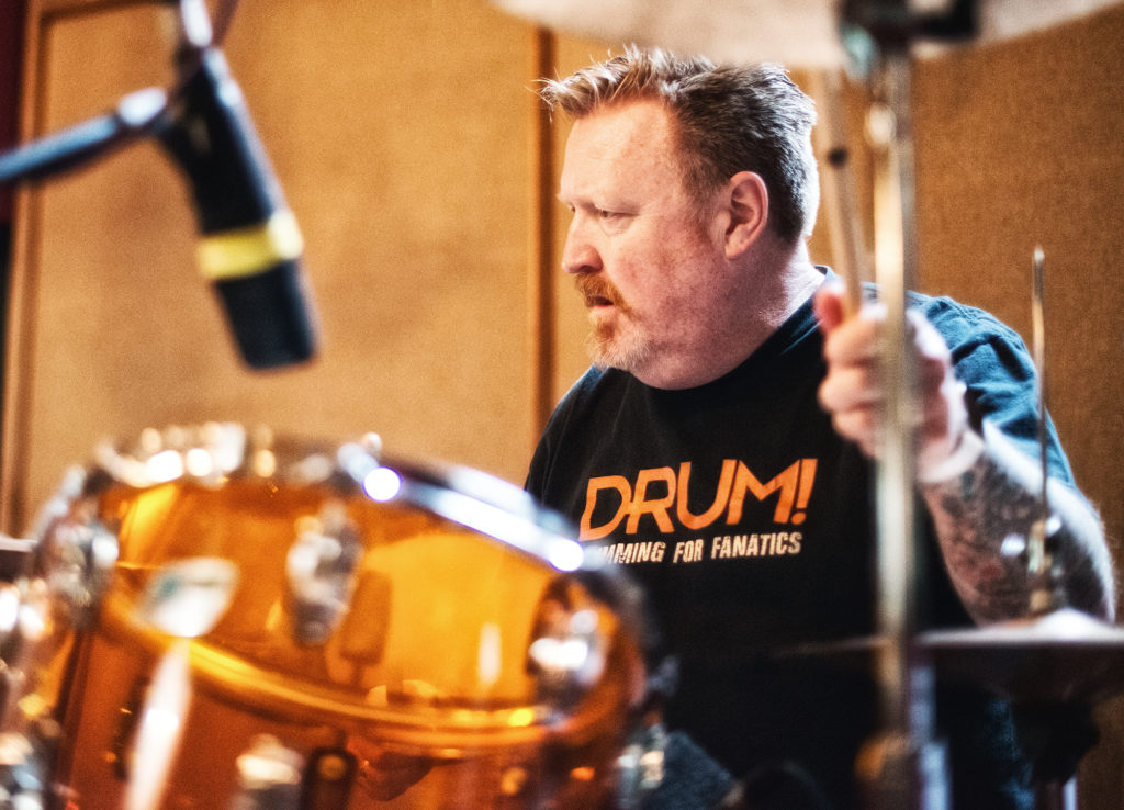 ...Bob laying down the drums for Dreamtime...